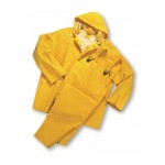 35ml PVC over Polyester 3pcs Rainsuit